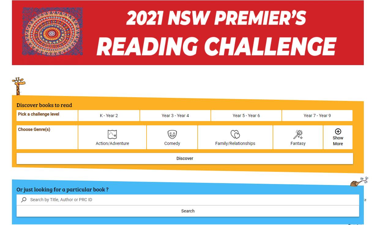 2021 Premier's Reading Challenge