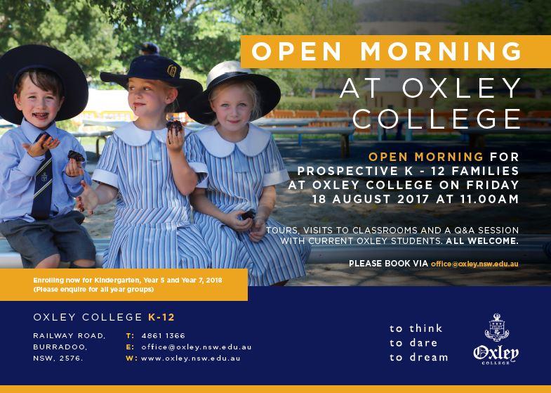 Open Morning Aug 2017